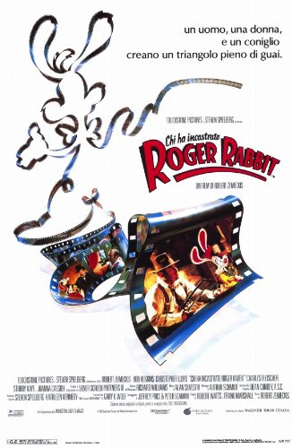 Who Framed Roger Rabbit Poster Movie Italian 11 X 17 In   28cm X 44cm Bob