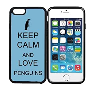 Case Cover For SamSung Galaxy S4 Mini display) RCGrafix Keep Calm And Love Penguins 1 - Designer BLACK Case - Fits Case Cover For SamSung Galaxy S4 Mini - Protected Cell Phone Cover PLUS Bonus Iphone Apps Business Productivity Review Guide