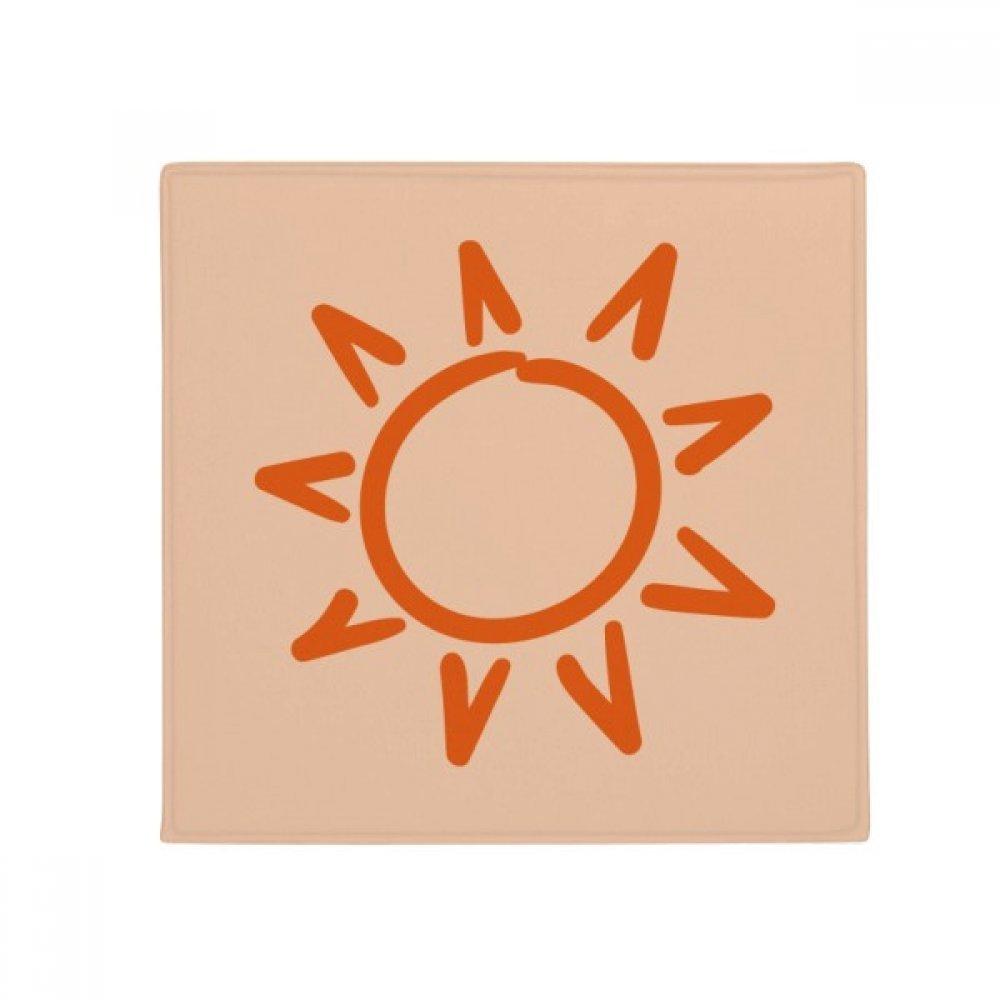 DIYthinker Sunshine Sun Hand Painting orange Anti-Slip Floor Pet Mat Square Home Kitchen Door 80Cm Gift