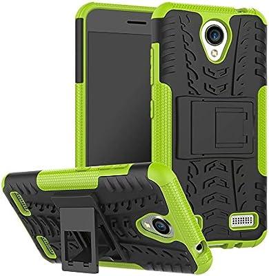 YHUISEN ZTE A520 Funda, Hyun Patrón de doble capa de armadura híbrida Kickstand 2 en 1 Funda de caja a prueba de choque para ZTE Blade A520 (Color : Green) : Amazon.es: Electrónica