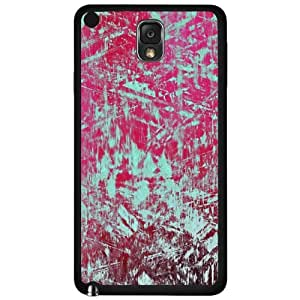 Teal and Pink Abstract Art Hard Snap on Case (Galaxy Note 3 III) by lolosakes