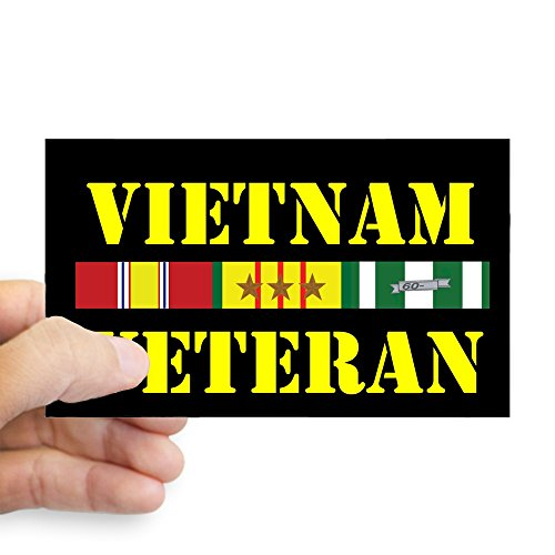 CafePress Vietnam Veteran 3 Star Rectangle Bumper Sticker Car Decal