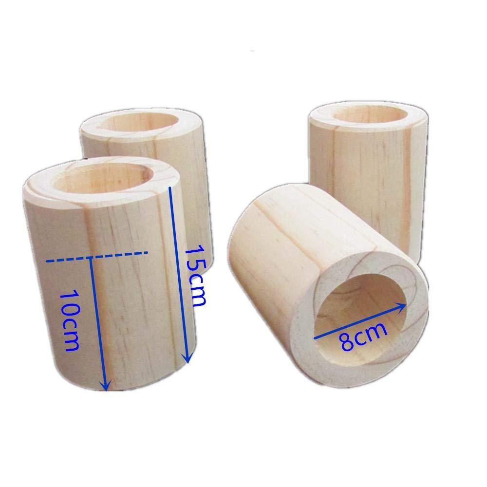 4PCS r/ésistants /à loriginal en bois /Él/évateurs de meubles bois Risers de lit de couleur