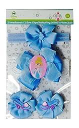 Baby-Girls Infant Cinderella 3 Piece Hair Set, Blue, One Size