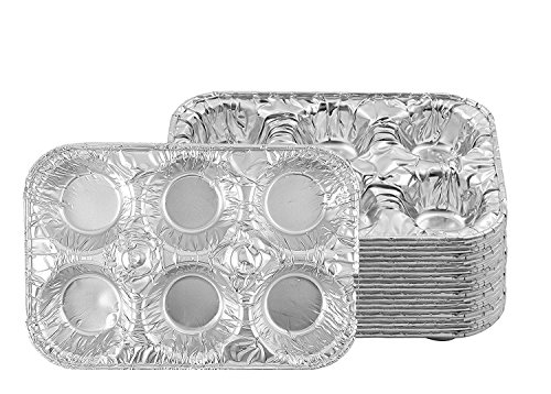 Party Bargains Muffin Pan | 6Cup Cupcake Aluminum Pans Favorite Muffin Tin Size for Baking Cupcakes  Standard Size | Pack of 20