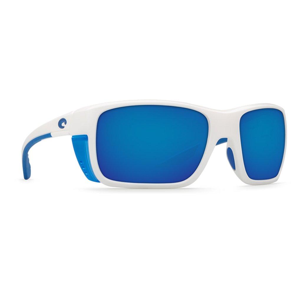 Costa del Mar Blackfin Polarized Sunglasses USA White//Green Mirror 400G Glass