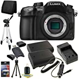 Panasonic Lumix DMC-GH4 Digital Single Lens Mirrorless Camera with 4K Cinematic Video (Body Only) + Two DMW-BLF19 Replacement Lithium Ion Battery  + External Rapid Charger + Full Size Tripod + SDHC Card USB Reader + Memory Card Wallet + Deluxe Starter Kit DavisMax Bundle