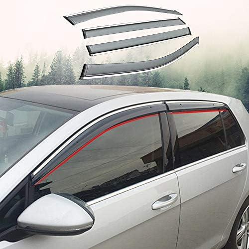 Xtrdye Auto Windabweiser Kompatibel Mit Golf 6 2009 2013 Acryl Glastür Seitenfenster Sonnenblende Regen Und Schnee Sonnenschutz 4er Pack Küche Haushalt