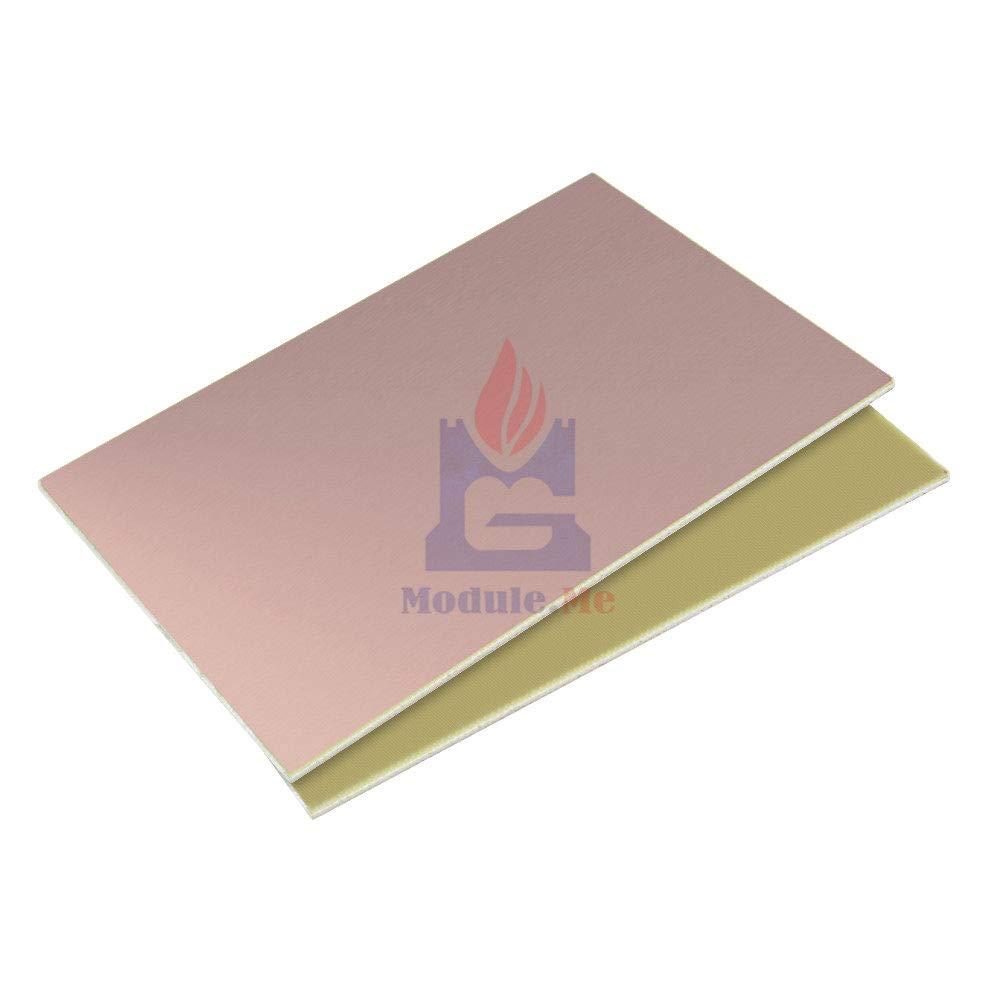 2PCS 10x15cm Single Side PCB Copper Clad Laminate Board FR4 1 2MM 10