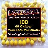 100 Reballs Reusable Rubber Paintballs,68 Cal Reusable Rubber Paintballs,68 Caliber Reballs,Lazerballs