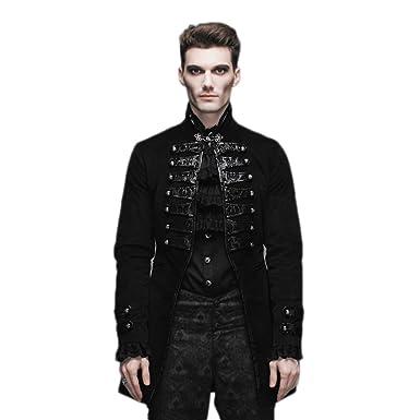 Devil Fashion Steampunk Gothic Men Jacket Coats Punk Winter Victorian Renaissance Halloween Costume XXXL