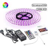 Simfonio Luz LED Funciona con Alexa, Wifi Teléfono inteligente inalámbrico Kit de luz de tira led controlada [Clase de eficiencia energética A+++]