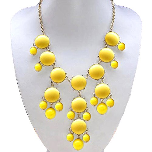 CharmsStory Statement Necklace Golden Chunky