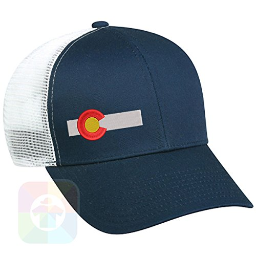 Custom Tshirts and Hats Colorado Flag Bar Structured Snapback Baseball Mesh Hat Cap #1445
