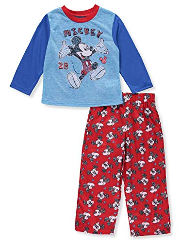 Disney Boys' Toddler Mickey Mouse 2-Piece Pajama Set, Blue, -