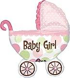 "Anagram International Baby Buggy Girl Shape Foil, 31"", Multicolor"