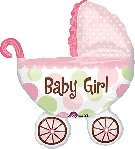 Anagram International Baby Buggy Girl Shape Foil, 31