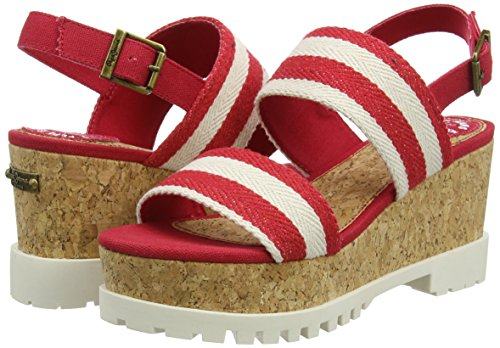 Katherine Con Donna rot Jeans 258red Rosso Strap Hot Platea Double Sandali Pepe 45TwFqSC