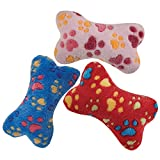 Zanies Ruff N' Tumble Plush Bone Assorted Pet Dog Toys 18 Piece Refill, X-Large
