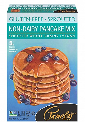 Pamela's Products Gluten Free Sprouted Pancake Mix, Non-Dairy, 12 (Non Dairy Products)