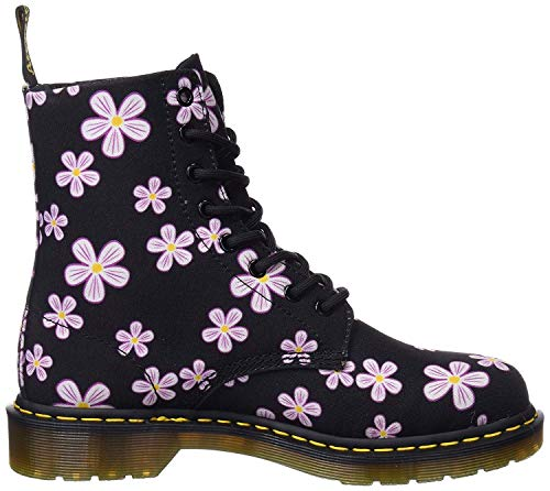 #Dr Martens Page Meadow Black Meadow Flowers 8 Eye Womens Canvas Boots
