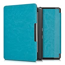 kwmobile Flip cover case for Kobo Glo HD (N437) / Touch 2.0 - imitation leather foldable case in light blue
