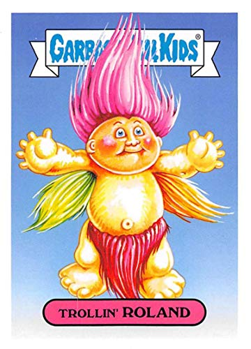 2019 Topps Garbage Pail Kids We Hate the '90s Toys Sticker #2a TROLLIN' ROLAND Sticker Trading Card