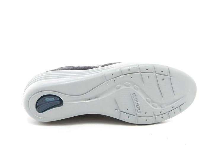 5c52dd6dfd2761 Stonefly Damen Sneaker Keilabsatz Leder Blau Silber   37 Größe 37   Amazon.de  Schuhe   Handtaschen