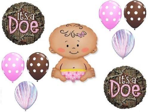 LoonBalloon MOSSY OAK It's a Doe Pink Girl