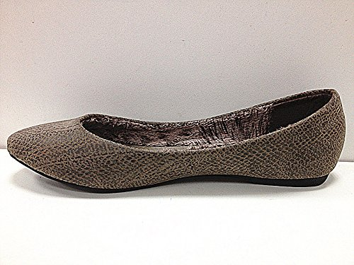Femmes Chaussures plates ballerines mocassins A282 TAUPE