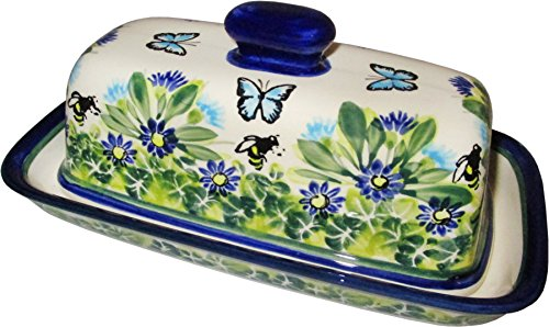 Polish Pottery Stick Butter Dish - Eva's Collection (8' Covered Butter Dish)