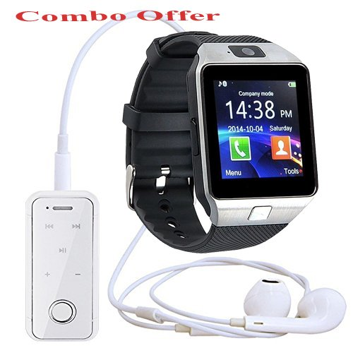 Bluetooth Smart Watch With Sim Card Slot And Camera With Free I6s White Bluetooth Headset Amazon In Electronics