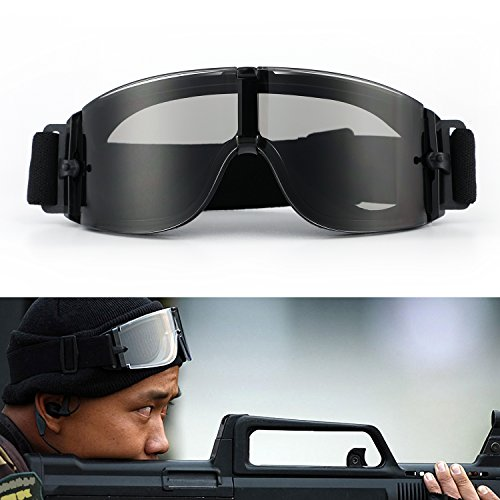 Cycling Goggle Motorcycle Tactical Glasses Adjustable Airsoft Goggles Army...