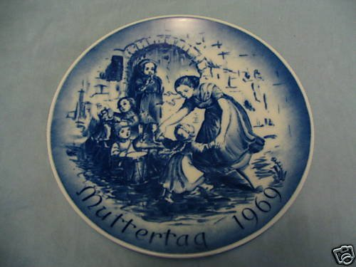 Bareuther 1971 Mother's Day Porcelain Plate -- Dancing with the Children