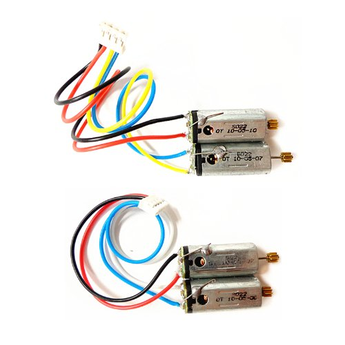 1 PAIR FRONT & REAR MAIN MOTOR SET FOR SYMA S022 022 / S34 RC HELICOPTER SPARE PARTS S022-19 S022-20