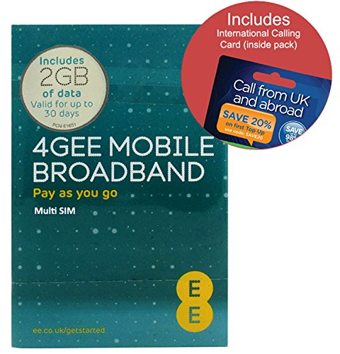 Love2surf EE 4G 2GB UK & EUROPE PAYG Trio Data SIM - Mobile Broadband -2GB...