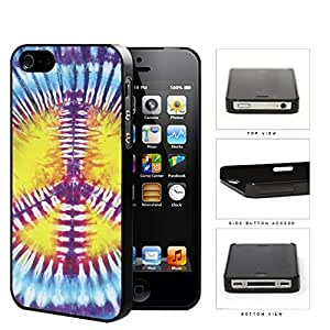 Colorful Peace Sign Tie Dye Pattern Hard Snap on Phone Case Cover iPhone 4 4s