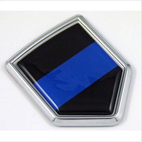 Amazon.com: Police Thin Blue Line Flag Chrome Emblem Car Decal Sticker Bike Crest Badge: Everything Else
