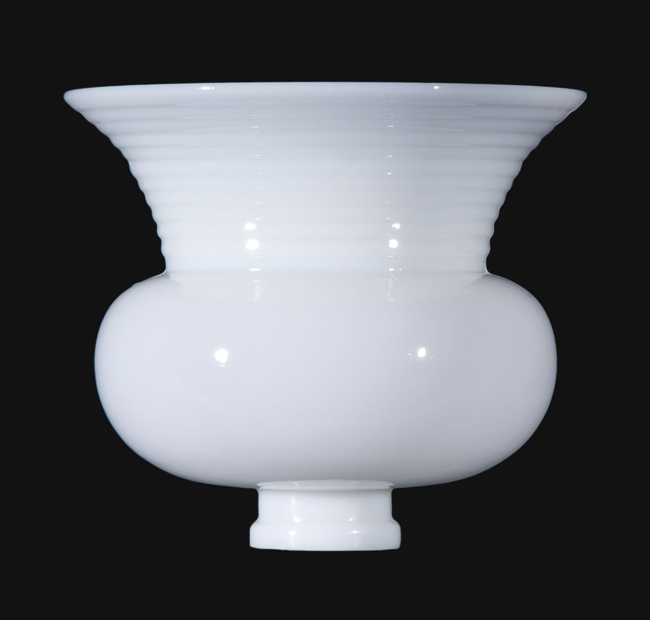 B&P Lamp 8'' Dia., Usa-Made Opal Glass Reflector