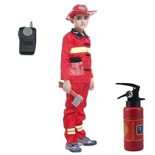 GSNML Set de Disfraces de Disfraz de Jefe de Bomberos de 6 Piezas ...