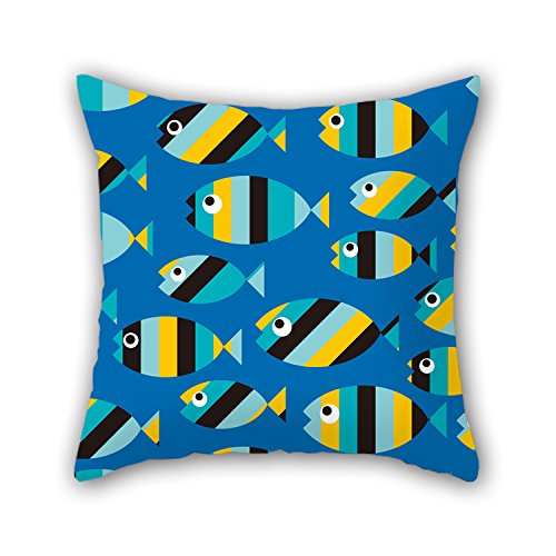 PILLO Fish Cushion Cases 16 X 16 Inches / 40 By 40 Cm Best Choice For Floor,dance Room,kitchen,sofa,saloon,valentine With Both Sides
