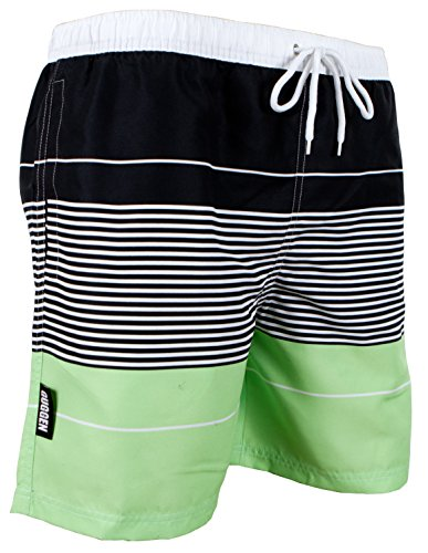 GUGGEN MOUNTAIN Men's swimming trunks out of High-Tec Material swim shorts bathing drawers bathers slip striped *High Quality Print* Farbe striped L