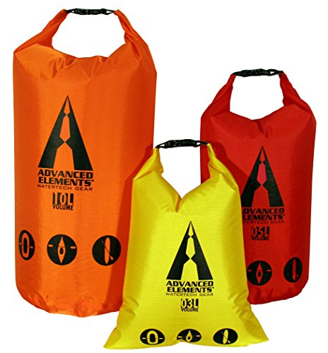 ADVANCED ELEMENTS Pack Lite Roll Top Dry Bag (Set of 3) (Best Dry Sack For Backpacking)