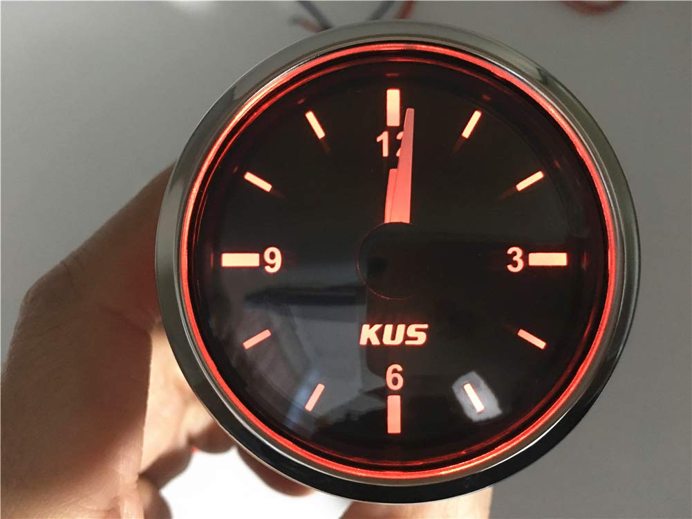 Kadir Koc 1pc Tuning Clock Gauges 52 Clock Meters Hour Gauges with Backlight Black by Kadir Koc (Image #2)