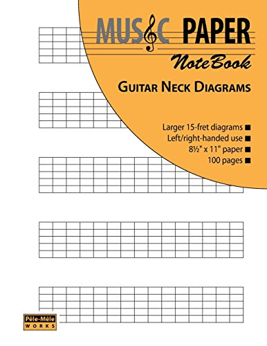 MUSIC PAPER NoteBook - Guitar Neck Diagrams (Diagrams Neck Guitar)
