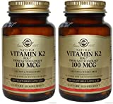 Solgar Natural Vitamin K2 (MK-7) Vegetable Capsules, 100 Mcg (2 PACK) For Sale