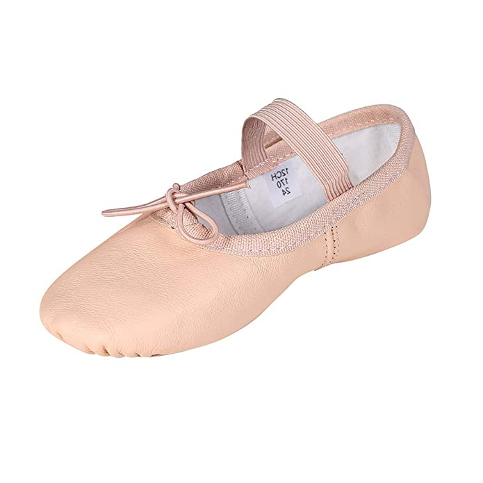 STELLE Premium Leather Ballet Slipper/Ballet Shoes(Toddler/Little Kid/Big Kid) (9MT, Ballet Pink)