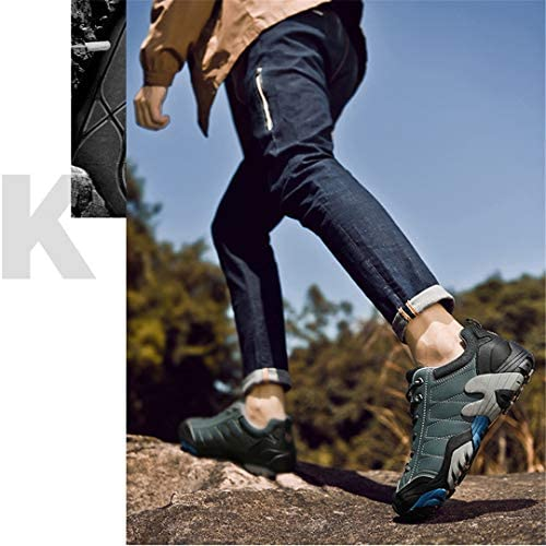 男性用アウトドアハイキングシューズ-冬用防水滑り止めハイキングシューズ-ぬいぐるみメンズシューズ