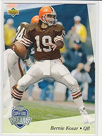 NFL Experience Exclusive Gold Parallel Bernie Kosar Football