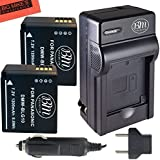 BM Premium 2-Pack of DMW-BLG10 Batteries and Battery Charger for Panasonic Lumix DC-ZS200, DC-ZS70, DMC-GX80, DMC-GX85, DMC-ZS60, DMC-ZS100, DMC-GF6, DMC-GX7K, DMC-LX100K Digital Camera